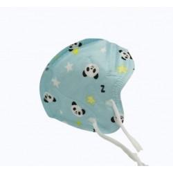 Dětský respirátor KN95, FFP2 - 10 ks - modrý s pandou