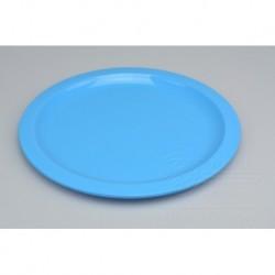 Mělký plastový talířek IRAK 150ml - Modrý (21,5x1cm)