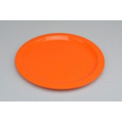Mělký plastový talířek IRAK 150ml - Oranžový (21,5x1cm)