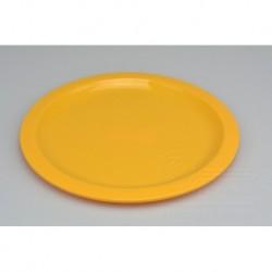 Mělký plastový talířek IRAK 150ml - Žlutý (21,5x1cm)