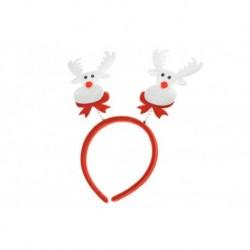 Dětská Vánoční čelenka - Bílý sob