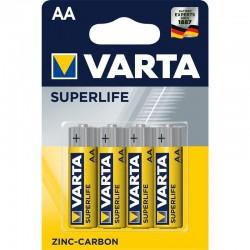 Zinkouhlíková baterie Superlife R6 - 4x AA - blistr - Varta
