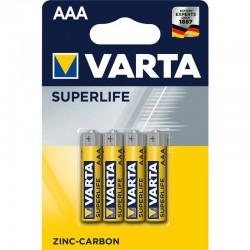 Zinkouhlíkové baterie Superlife R03 - 4x AAA - blistr - Varta