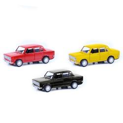 Kovové autíčko LADA - červená/žlutá/černá