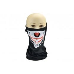 Tunelový nákrčník s poutky - barevný klaun - černý