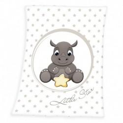 Dětská fleecová deka - Nosorožec - 100 x 75 cm - Herding