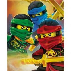 Dětská fleecová deka - Lego Ninjago - 150 x 100 cm - Halantex