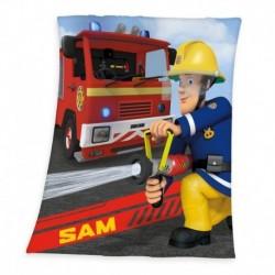 Dětská fleecová deka - Požárník Sam - 160 x 130 cm - Herding