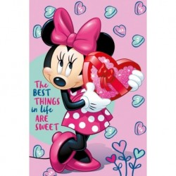 Dětská fleecová deka - Minnie - růžová - 150 x 100 cm - Jerry Fabrics