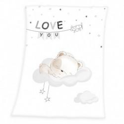 Fleecová deka - Medvídek - 100 x 75 cm - Herding