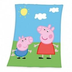 Dětská fleecová deka - Prasátko Peppa - 160 x 130 cm - Herding