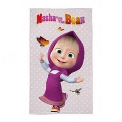Dětský ručník - Máša a Medvěd - Máša s motýlky - 50 x 30 cm - Detexpol