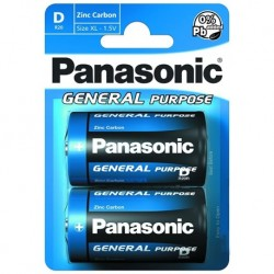 Baterie General Purpose R20BE/2BP - 1,5 V - 2x D baterie - blistr - Panasonic
