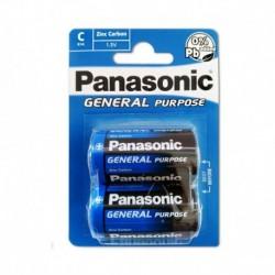 Baterie General Purpose R14BE/2BP - 1,5 V - 2x C baterie - balení blistr - Panasonic