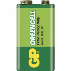 Baterie 6F22 Greencell - 9 V - 1 ks - GP