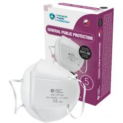 Český respirátor GPP2 FFP2 NR (CE) - 1 ks - bílý - General Public Protection
