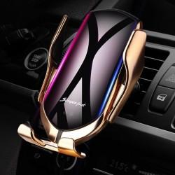 Bezdrátová nabíječka a držák do auta Lux R1 2 v 1 - zlatý - malý