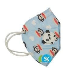Dětská filtrační maska s dýchacím ventilem třídy KN - 1 ks - modrá - OEM