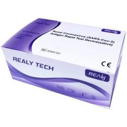 Certifikovaný antigenní rapid test na SARS-CoV-2 - saliva - 5 ks - RealyTech