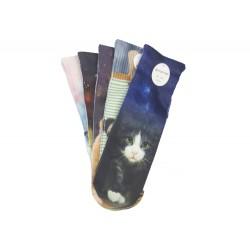 Dámské ponožky s celopotiskem zvířátek NP156 - 5 párů - Auravia