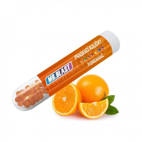 Praskací kuličky Mr. Blast - Pomeranč - 100 ks