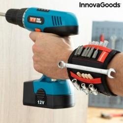 Magnetický náramek pro kutily se dvěma kapsami WrisTool - InnovaGoods