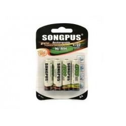Nabíjecí baterie AA SP-1814 - 4 ks - 4700 mAh - Songpus