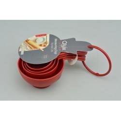 Set 4 plastových odměrek - 60-240 ml - 16 cm - Qlúx
