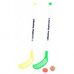 Florbalové hokejky s míčkem a pukem - 80 cm - Rappa