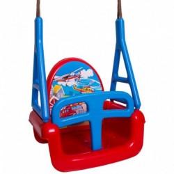 Dětská houpačka 3 v 1 - Car Swing - červená - Tega