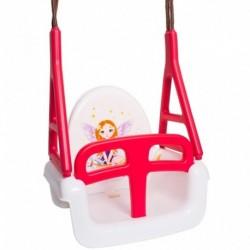 Dětská houpačka 3 v 1 - Princess Swing - bílá - Tega