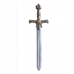 Rytířský meč - stříbrné vzory na rukojeti - Rappa