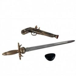 Pirátská sada - bambitka s mečem a klapkou na oko - Rappa