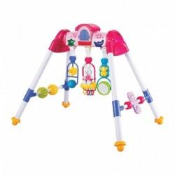 Dětská hrající vzdělávací hrazdička - růžová - Bayo