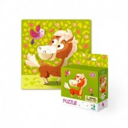 Puzzle s obrázkem koníka - 16 dílků - TM Toys