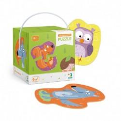 Puzzle s malým počtem dílků - lesní zvířátka - TM Toys