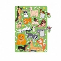 Rámové puzzle s pejsky - 53 dílků - TM Toys