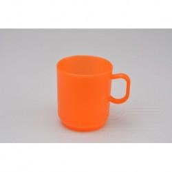 Plastový hrníček - 2,5 dl - oranžový - TVAR