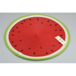 Pletené prostírání - 38 cm - meloun