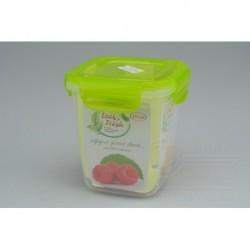 Plastový box na potraviny - 11 x 10 x 10 cm - zelený - 575 ml