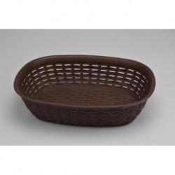 Plastový košík do domácnosti - 30,5 x 22 x 7,5 cm - hnědý - 3 L