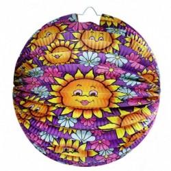 Lampion se slunečnicovým motivem - 25 cm - Rappa
