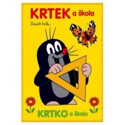 Omalovánky s motivem Krtečka - A5 - Krtek a škola - Rappa