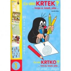 Omalovánky s motivem Krtečka - A4 - kniha - Co dělá Krtek? - Rappa