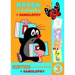 Omalovánky s motivem Krtečka - A4 - kniha - Krtek a zvířátka + samolepky - Rappa