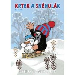 Omalovánky s motivem Krtečka - A4 - Krtek a sněhulák - Rappa
