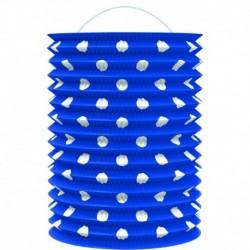 Papírový lampion - modrý s tečkami - 23 cm - Rappa