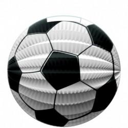 Papírový lampion s motivem fotbalového míče - 23 cm - Rappa