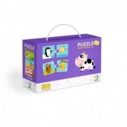 Puzzle Duo - Co jedí zvířátka -12 x 2 dílků - Rappa