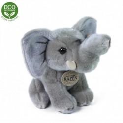 Sedící plyšový slon - 18 cm - Rappa